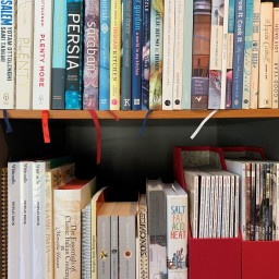 Introduction to my kitchen bookshelves
